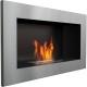 Biocamino 64x40 cm Acciaio bruciatore da 0,5 litri senza vetro