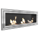 Biocamino 120x55 cm - 3 mega bruciatori - basic juliett 1800