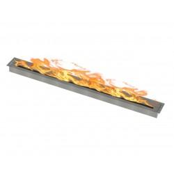 Bruciatore per biocamino 150x10 + base bianca