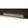 Vetro frontale 70 cm x 10 cm + 2 staffe color argento - vetro per biocamini