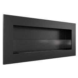 Biocamino da parete mod. Delta Slim 90 x 40 x 10,5 cm Camino al bioetanolo con bruciatore unico