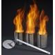 Camino al bioetanolo 124x36x15 cm da incasso con 10 bruciatori