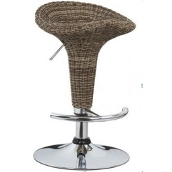 sgabello CASABLANCA (XH-102 T), coppia di sgabelli design rattan, stool, marrone