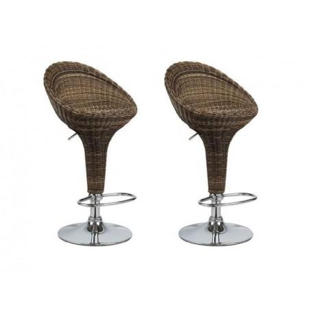 sgabello HANOI (XH-105T), coppia di sgabelli design, stool. marrone