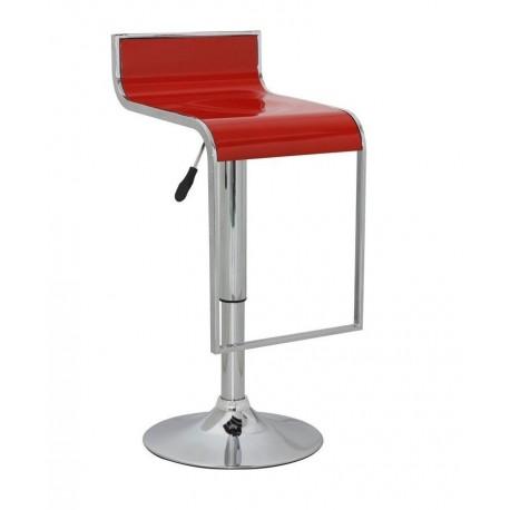 sgabello LUGANO (XH 230-4), coppia di sgabelli design, stool. rosso