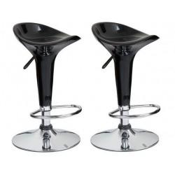 SGABELLO Firenze XH102 coppia di sgabelli design, stool nero
