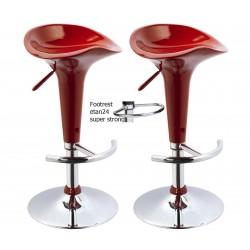 SGABELLO Firenze XH102 coppia di sgabelli design, stool rosso