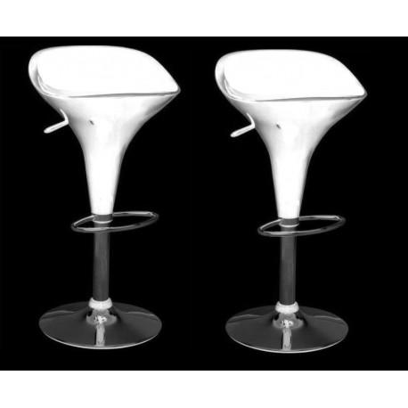 sgabello VENEZIA, XH104 , coppia di sgabelli design, bianco