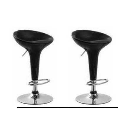 sgabello SHANGHAI (XH 101-1), coppia sgabelli design, stool. nero