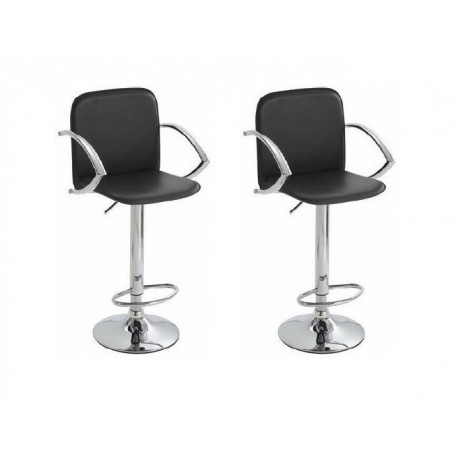 SGABELLO TOKIO (XH 101-2), nero SHINNING PVC LEATHER COVERED, coppia di sgabelli design, stool,PVC