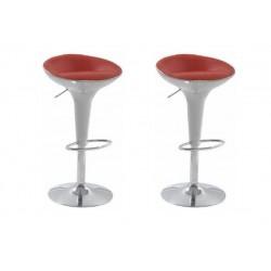 sgabello BUDAPEST (XH 101-3), coppia di sgabelli design, bianco rosso