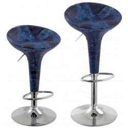 sgabello ATENE (XH101J), coppia di sgabelli design modello jeans Blu