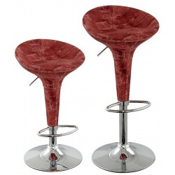 sgabello ATENE (XH101J), coppia di sgabelli design modello jeans rosso