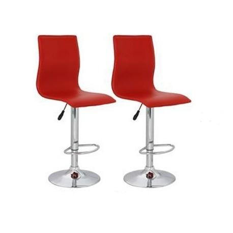 sgabello ZURIGO (XH-312), coppia di sgabelli design, stool rosso