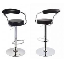 sgabello MIAMI (XH-225), coppia di sgabelli design, stool. nero