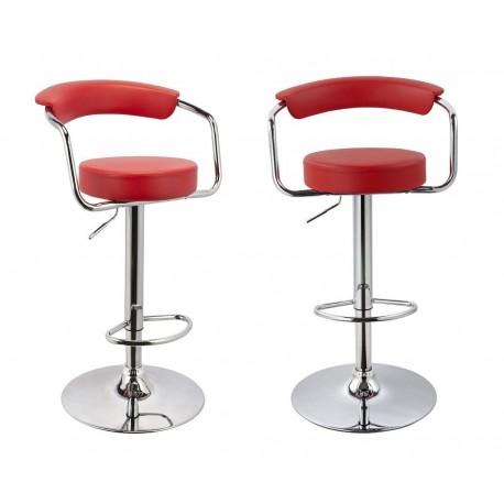 sgabello MIAMI (XH-225), coppia di sgabelli design, stool. rosso