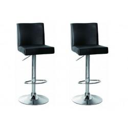 sgabello SAN PAOLO(XH615), coppia di sgabelli design, stool. nero