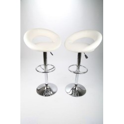 sgabello SIDNEY (XH-232-1), coppia di sgabelli design, stool. bianco