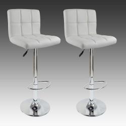 sgabello BRUXELLES (XH-249), coppia di sgabelli design, stool. bianco