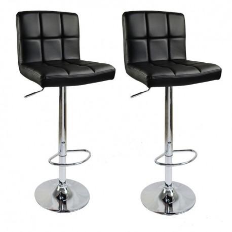 sgabello BRUXELLES (XH-249), coppia di sgabelli design, stool. nero