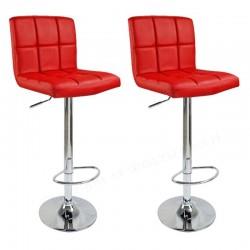 sgabello BRUXELLES (XH-249), coppia di sgabelli design, stool. rosso