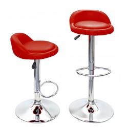 sgabello BASEL (XH-210), coppia di sgabelli design, stool rosso