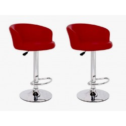 sgabello LION (XH-281), coppia di sgabelli design, stool. rosso