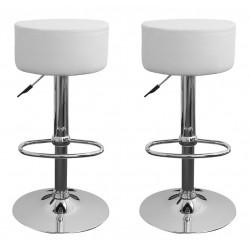 sgabello HAMBURG (XH-215-1), coppia di sgabelli design, stool. bianco