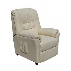 POLTRONA MASSAGGIANTE Beige CAMILLA SP952, Poltrona relax ,riscaldata vibrante, ecopelle , poltroncina TV , massaggi