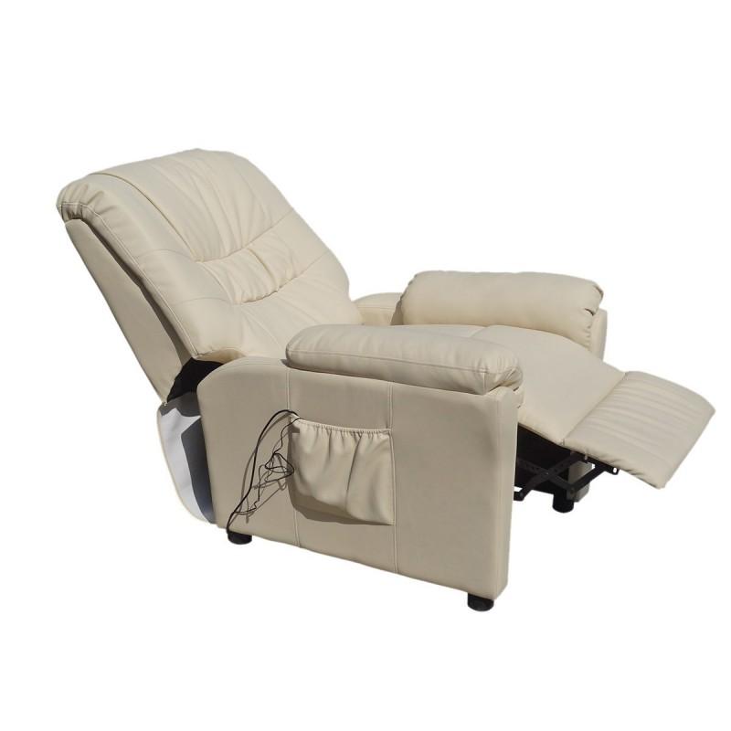 Poltrone Relax Tv.Poltrona Massaggiante Beje Camilla Sp952 Poltrona Relax