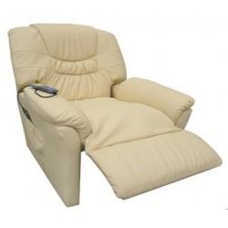 POLTRONA bianca MASSAGGIANTE CAMILLA SP952, Poltrona relax ,riscaldata vibrante, ecopelle , poltroncina TV , massaggi
