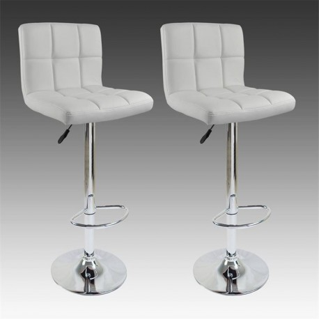 sgabello BRUXELLES (XH-249), coppia di sgabelli design, stool bianco