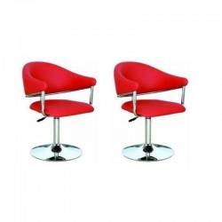 sgabello EDIMBURGO (XH-272), coppia di sgabelli design, stool rosso