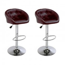 sgabello NEW ORLEANS (XH-274), coppia di sgabelli design, stool red