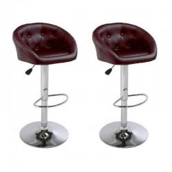 sgabello NEW ORLEANS (XH-274), coppia di sgabelli design, stool red