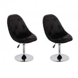 sgabello BRISTOL (XH-7139), coppia di nero sgabelli design, stool nero