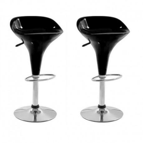 sgabello VENEZIA, XH104 , coppia di sgabelli design, nero