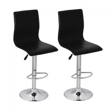 sgabello ZURIGO (XH-312), coppia di sgabelli design, stool nero