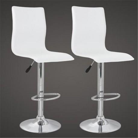 sgabello ZURIGO (XH-312), coppia di sgabelli design, bianco