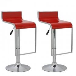 sgabello LUGANO (XH 230-4), coppia di sgabelli design, rosso