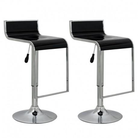 sgabello LUGANO (XH 230-4), coppia di sgabelli design, nero