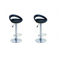 sgabello GINEVRA (XH123 P-2), coppia di sgabelli design, stool. nero
