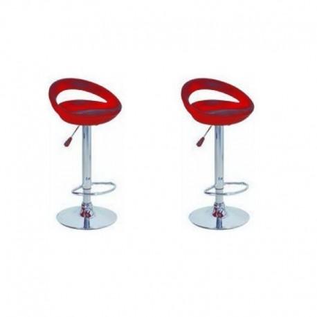 sgabello GINEVRA (XH123 P-2), coppia di sgabelli design, stool. rosso