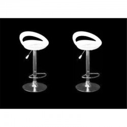 sgabello GINEVRA (XH123 P-2), coppia di sgabelli design, stool. bianco