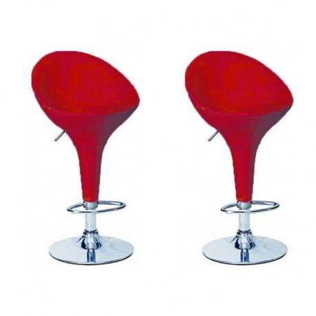 sgabello OSLO (XH105-1), coppia di sgabelli design, stool. rossi