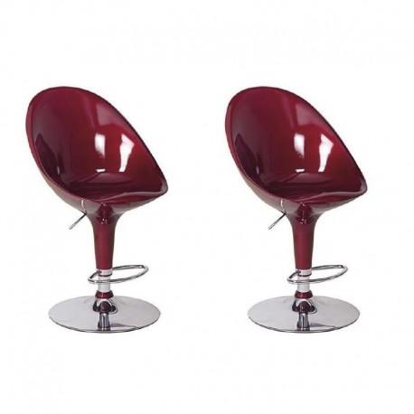 Sgabello MONACO XH-108, coppia sgabelli design,stool rosso