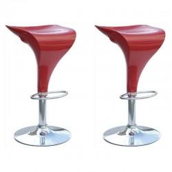 SGABELLO MALAGA XH-198, coppia di sgabelli design stool rosso