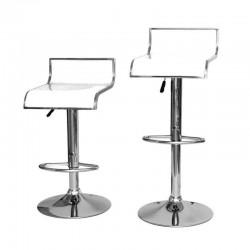 sgabello LISBONA (XH230-1), coppia di sgabelli design, bianco