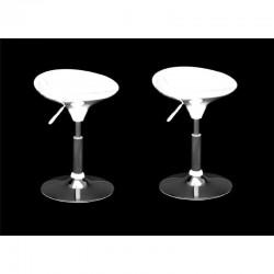 SGABELLO CORDOBA (XH-194), coppia di sgabelli design, bianco