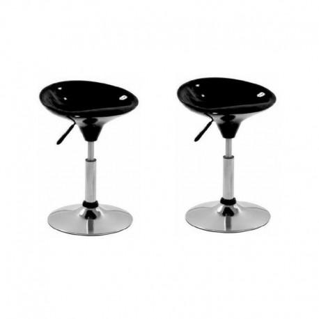 SGABELLO CORDOBA (XH-194), coppia di sgabelli design, nero